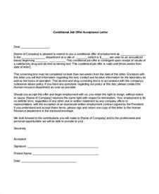 Acceptance Letter With Conditions offer acceptance letter 8 free pdf documents