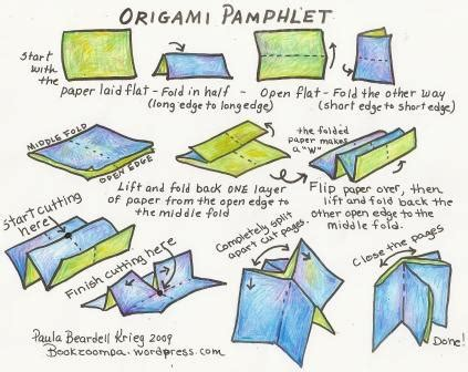 How To Make Origami Books - how to make an origami phlet playful bookbinding and