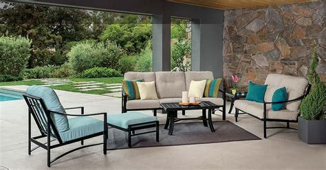 Patio Furniture Covers Tropitone Kenzo Cushion Seating Collection Hearth Patio