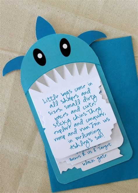 baby shark invitation omg gasp we must make this erin thornbrugh miller