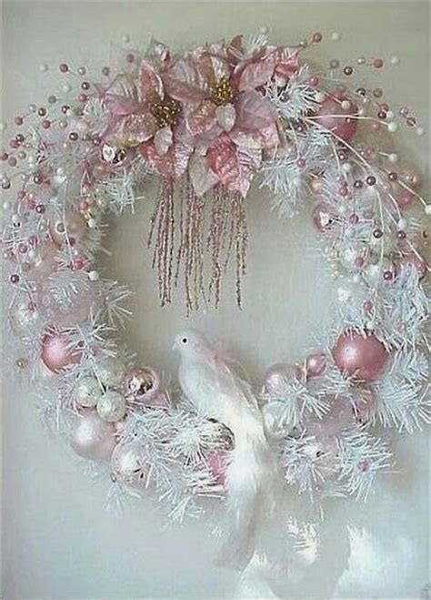 shabby chic wreath christmas pinterest