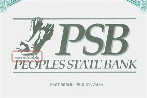 psb bank stock certificate peoples state bank psb east