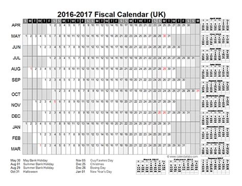 printable year planner 2016 uk 2016 fiscal year calendar uk 01 free printable templates