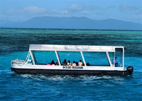 glass bottom boat great barrier reef a great barrier reef cruise with ocean freedom