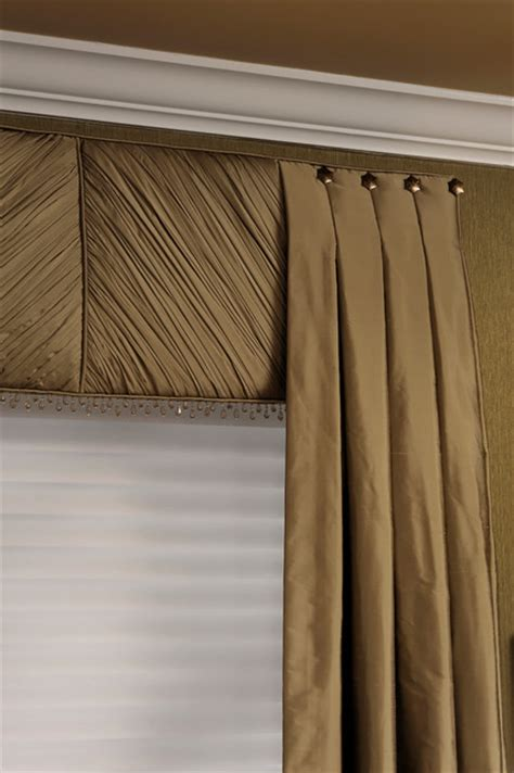 Contemporary Window Cornice Award Winning Contemporary Dining Room Closeup Of Pleated