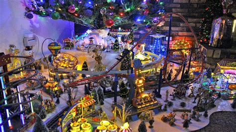 christmas village carnival  merry christmas  coasterfanatics youtube