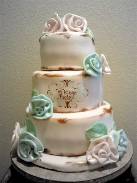 shabby chic baby shower cakes pin by terrie ralston on baby shower ideas