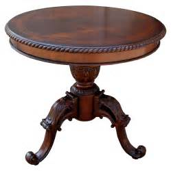 traditional ornate mahogany accent end table