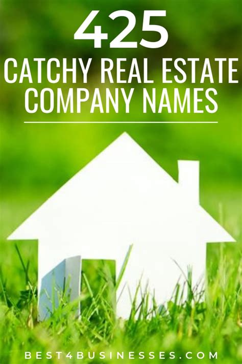 catchy real estate company names ideas