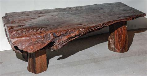 reclaimed wood slab coffee table at 1stdibs