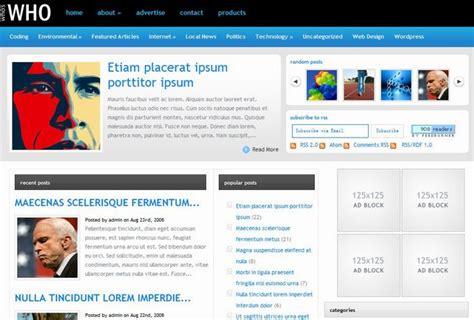 Whos News Lifestyle Magazine 15 by 15 Professional News Themes Dobeweb