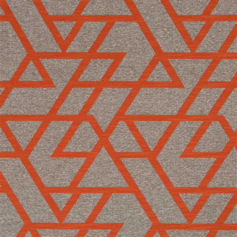 decor upholstery orange geometric upholstery fabric taupe home decor fabrics