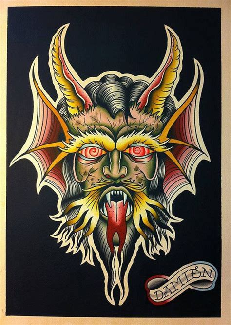 traditional devil tattoo the world s catalog of ideas