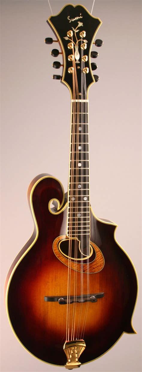 Handmade Mandolin - sumi custom oval monteleone style mandolin