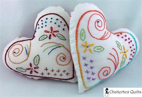 Pattern For Heart Pincushion   flourishing heart pillow pincushion by kim jamieson hi