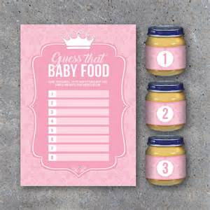 baby shower guess that baby food game with baby food jar