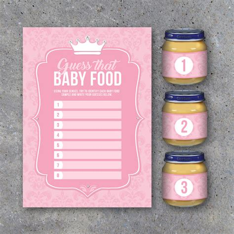printable baby food jar labels baby shower guess that baby food game with baby food jar