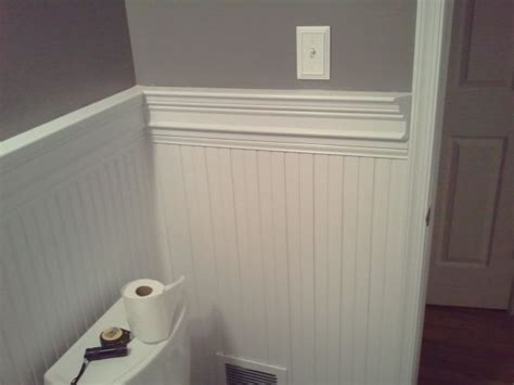 bathrooms with chair rail molding bead board chair rail bathroom vanity bathroom remodel