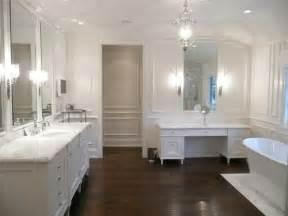 Mr and mrs b wood floor in a bathroom
