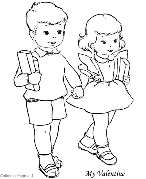 coloring pages for boy and girl boy and girl coloring pages coloring home