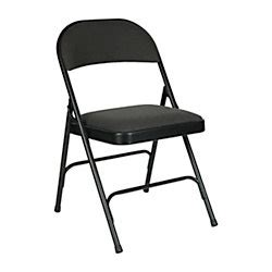 Office Depot Folding Chairs officemax charcoal padded folding chair by office depot officemax