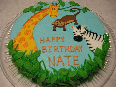 Make Jungle Animals jungle animals birthday cake cakecentral