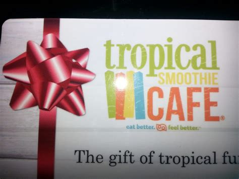Tropical Smoothie Gift Card - 2015 holiday gift guide tropical smoothie caf 233 be my guest dinning gift cards make