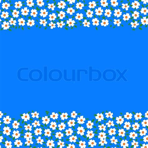 Seamless Gift Card Coupon - vector card with floral seamless frame border made of small white flowers and