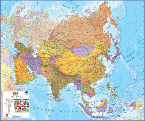 map of modern asia asia wall map laminated 47 quot x 39 quot a modern laminated