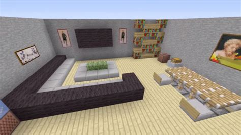 minecraft modern living room minecraft house interior living room google search
