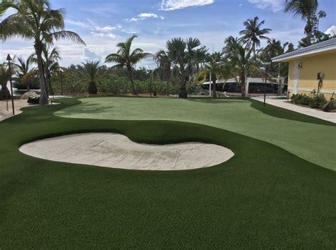 square foot artificial grass golf complex  cudjoe