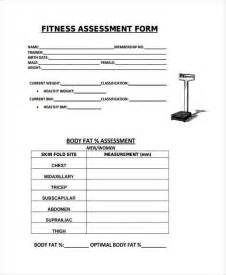 fitness appraisal template fitness assessment form physical fitness assessment form