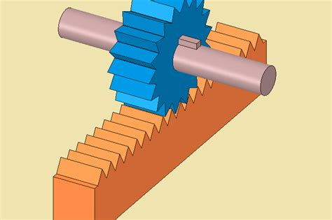 Rack And Pinion Cad Model by Rack Pinion Drive Spaceclaim Step Iges 3d Cad