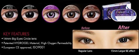 Softlens Colourvue Big Dolly Black colourvue big 3 month disposable contact lens buy it at contactlenshouse with discount