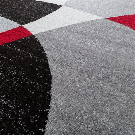 teppich läufer rot designer teppich rot meliert kurzflor modern abstrakt