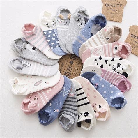 Animal Color Socks Set 3in1 1 sp city animal cotton socks kawaii cat with summer socks slippers