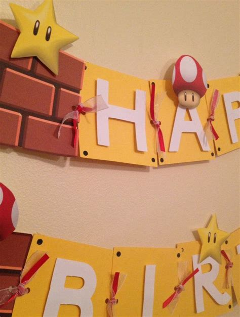 printable mario banner super mario birthday banner great for kids birthday parties