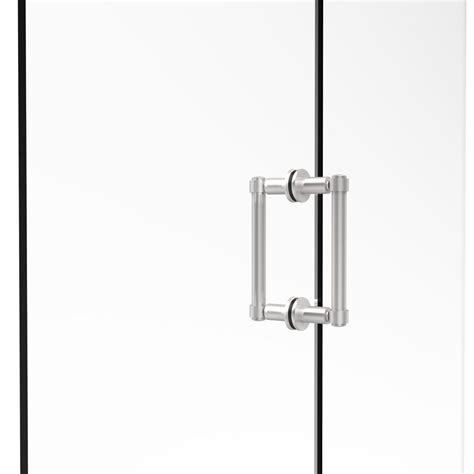Shower Door Pull Handles Showerdoordirect 6 In Tubular Back To Back Shower Door Pull Handles In Chrome With Washers