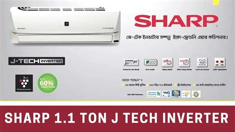 Ac Sharp Inverter Ah Xp10nry sharp 1 1 ton j tech inverter air conditioner review