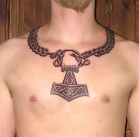 anchor chest tattoo celtic viking anchor on chest