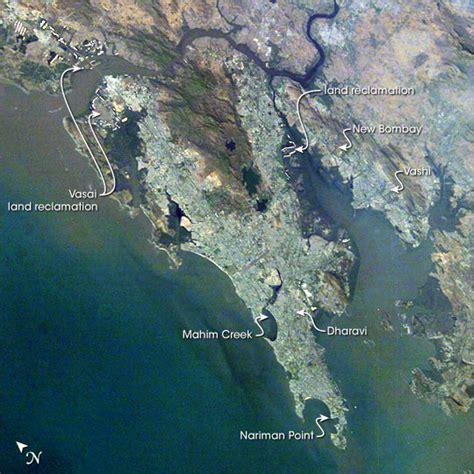 mumbai map satellite file mumbai aerial view satellite image india march