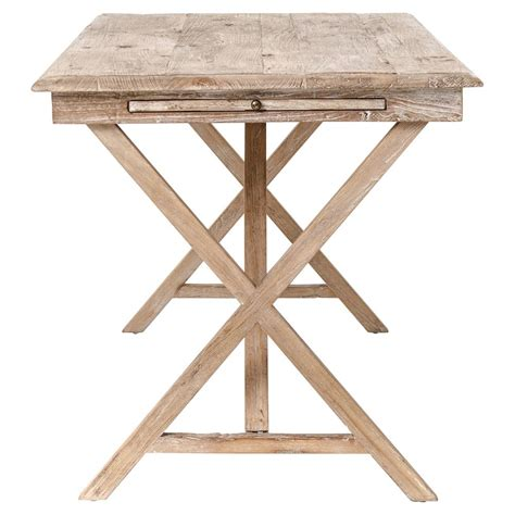 cyril country rustic white wash wood desk kathy