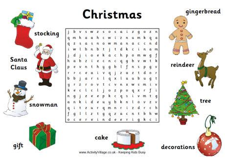 printable word searches activity village christmas word search 1