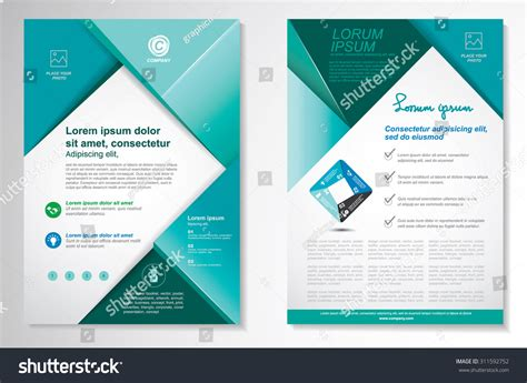 vector brochure flyer design layout template stock vector
