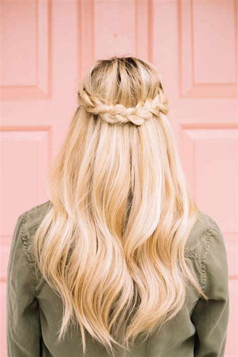 braid how tos french braid half crown a beautiful mess