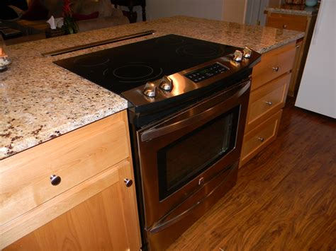 stove on kitchen island remodeling the kitchen schue