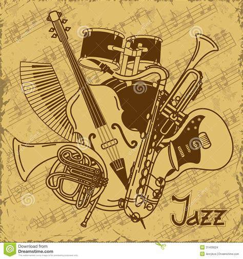 imagenes musicales retro fondo con los instrumentos musicales imagenes de archivo