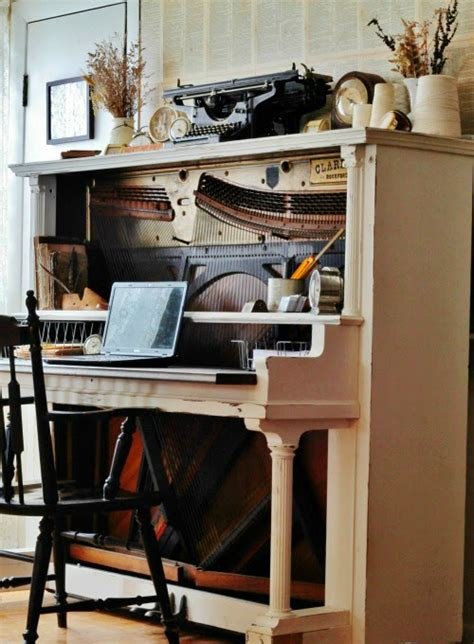 how to turn an antique piano into an amazing desk knick