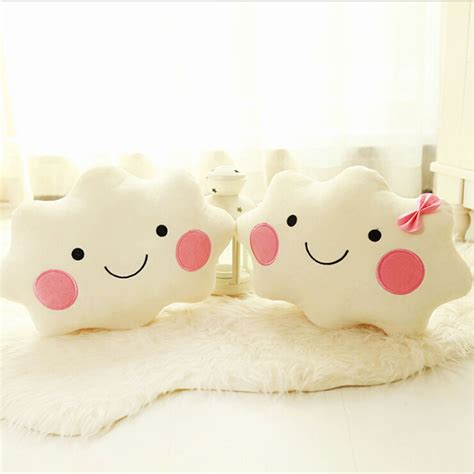 kids bed pillows cloud shaped cushion pillow soft toy baby nursery