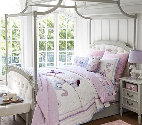 pottery barn kids bed blythe tufted canopy bed pottery barn kids